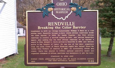 rendville historical marker